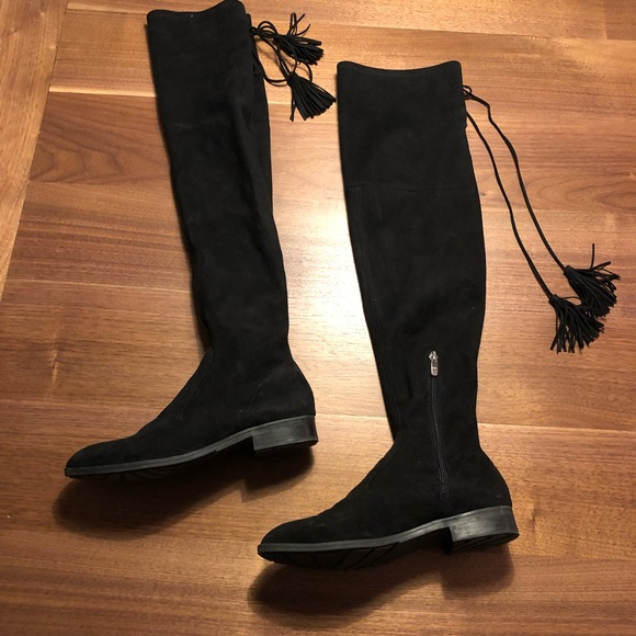 687b2c08e3a Marc fisher black suede over the knee tassel boots.  M_5c58bbf58ad2f9723b62c4a1